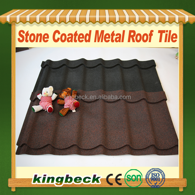 Villa House Stone Coated Steel Roofing Tile Plain Roof Tiles Type glazed flat roof tile