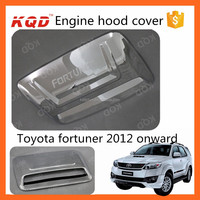 car hood scoop for toyota fortuner abs chrome engine hood cover fit fortuner 2014 hood scoops vents toyota fortuner accessories
