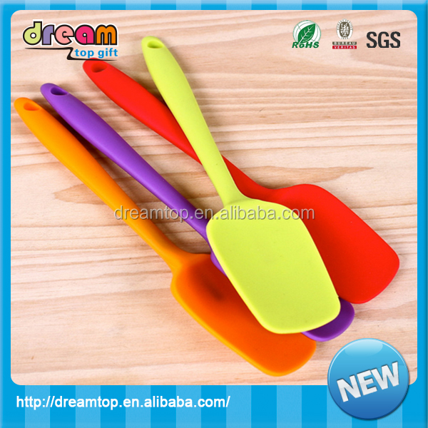 New product Supplier100%food grade/Heat resistant Silicone Scrape the spoon