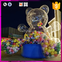 Custom make giant bear shape outdoor inflatable valentine decorations with balloon