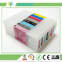 The best supplier 350ml refill empty ink cartridge for epson stylus pro 7450 9450 printer with resettable chip