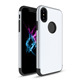 PC and TPU silver anti friction mobile cell phone case for iPhone X