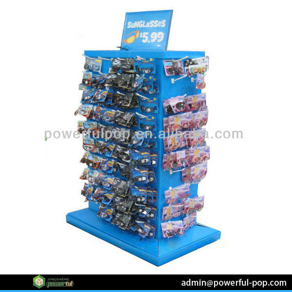 promotion 4 sided pallet cardboard display stand for sunglasses