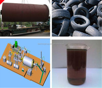 Waste Plastic Pyrolysis Oil Processing System waste tyres machinery