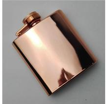 China professional supplier wholesale unique copper color stainless steel hip flask with customized logo
