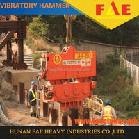 Sell excavator type hydraulic vibro pile hammer to press piles