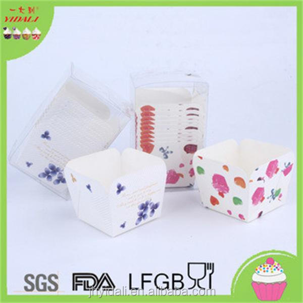 Colorful Square Paper Cupcake Liners Muffin Cases Baking Tools Paper Cupcake Cups Wrappers for Baking Wedding
