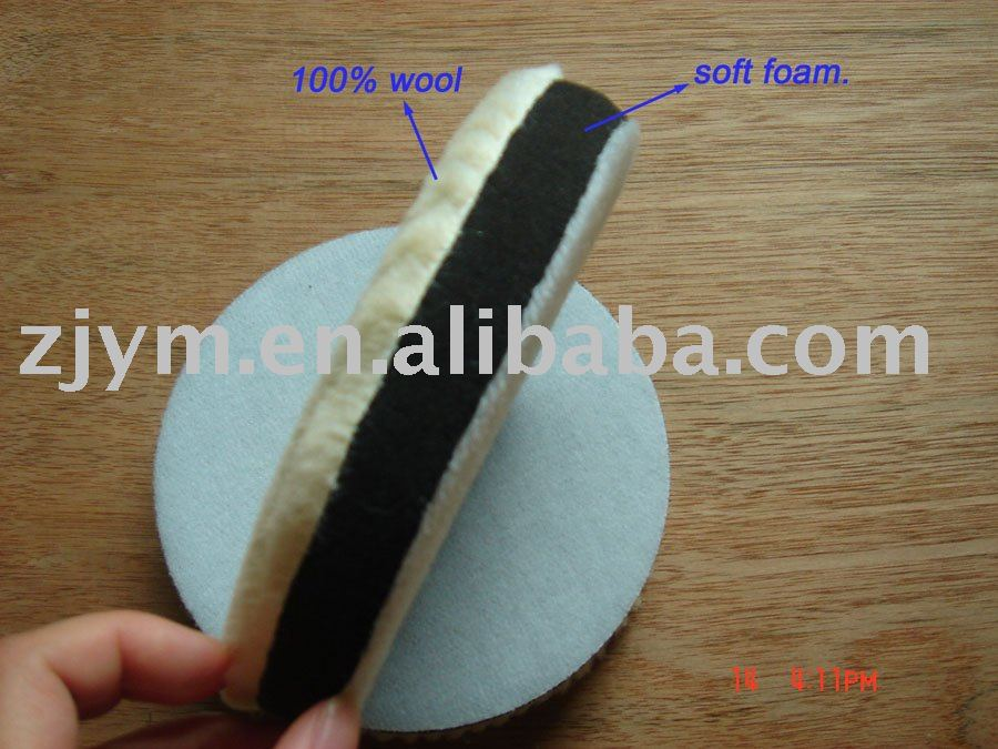 "6"" wool and foam polishing ball"