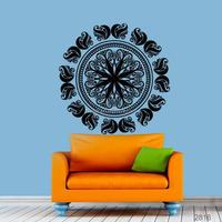 K56 Floral Victorian Mandala Vinyl Wall Art Sticker. Design Images Removable Mandala Wall Stickers Creative Mural Art For Fa