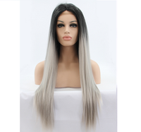 factory price top quality grey human hair wigs lace front wig for white women