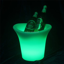 Chinese cheap rechargeable led ice bucket with led lighting