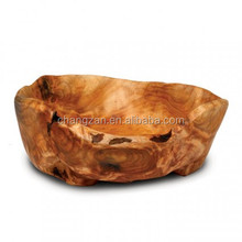 Natural Sharp Hand Carved Root Carving Wooden Bowl Wooden Salad Bowl