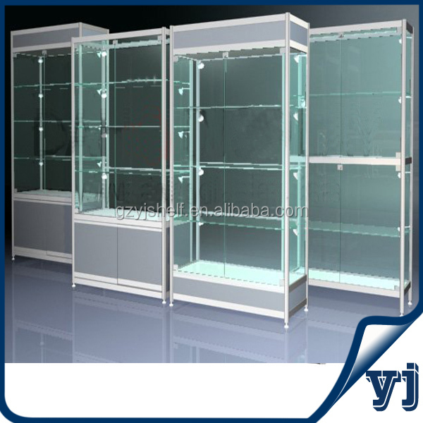 TSD-W003 High End Custom Free Standing Melamine Display Cabinet,Horizontal Display Cabinet