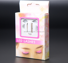 Nightclub Halloween led lashes & Party RGB lights Sound Interactive Flashing LED Eyelashes