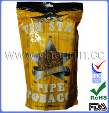 Laminated material golden virginia tobacco pouch