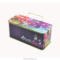 Rectangular Biscuits Cookies Tin Boxes Cookie Tin Can Packaging