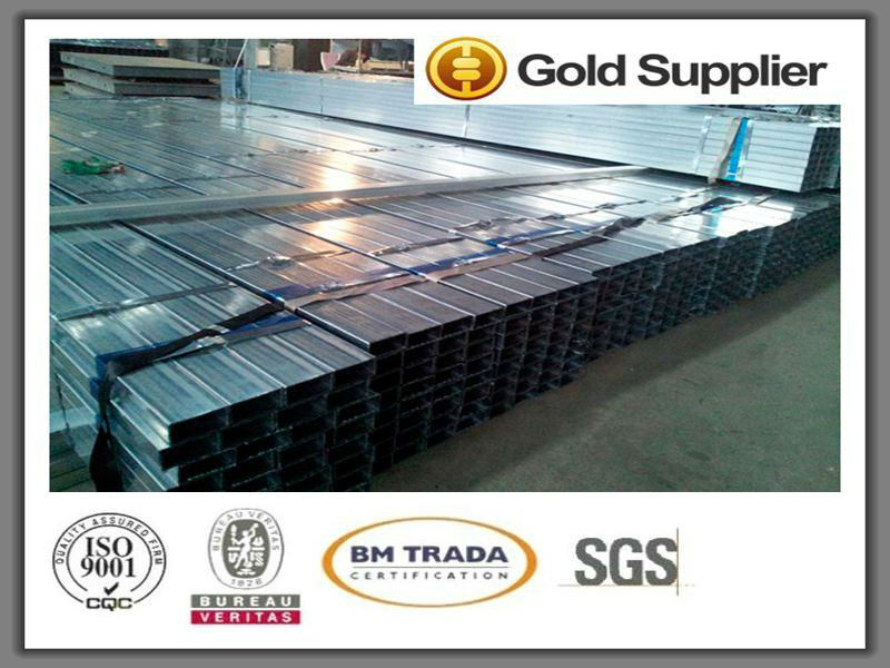 "Q235B Square/ Rectangular/ Triangle/ Hexagonal/ Octagonal galvanized steel pipe 4"" tube Steel Tube"