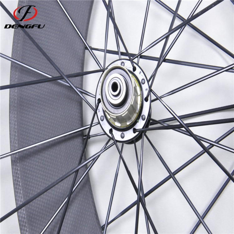 DengFu oem carbon wheel bicycle wheels 88mm depth 700C carbon bicycle wheels