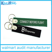 metal revit embroideried keychain short lanyard