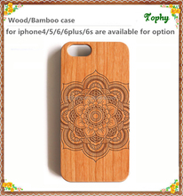 Customized logo! Natural real Wood +PC phone case for iPhone 5 6 4.7 , cherry wood material case good for engraving