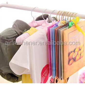 food grade aromatic scented room hang air freshener paper sachet for closet