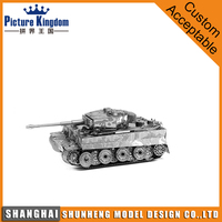 The Tiger Tank Metal Models 3D Puzzle Laser Cut Steel DIY Gifts