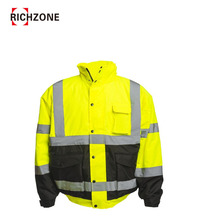 Hi Vis 3-In-1 Bomber Jacket With Teflon