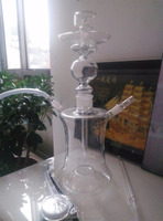Factory price wholesale all glass art hookah with LED