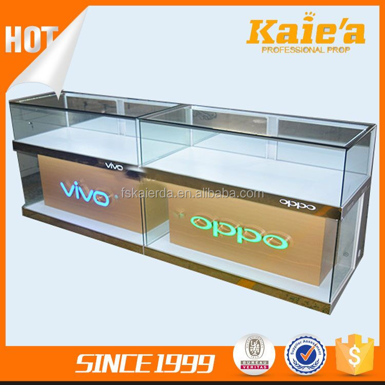New glass mobile phone display cabinet for mobile display
