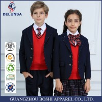 2015 Top Sale models blue school uniforms