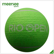Oversized 9.5 inches polyester felt inflated large tennis ball