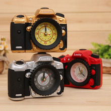 Home Decoration Student Retro Nostalgia Gifts Crafts Plastic Camera Alarm Clock