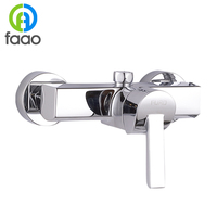 FARLO single handle chrome surface mounted shower faucet