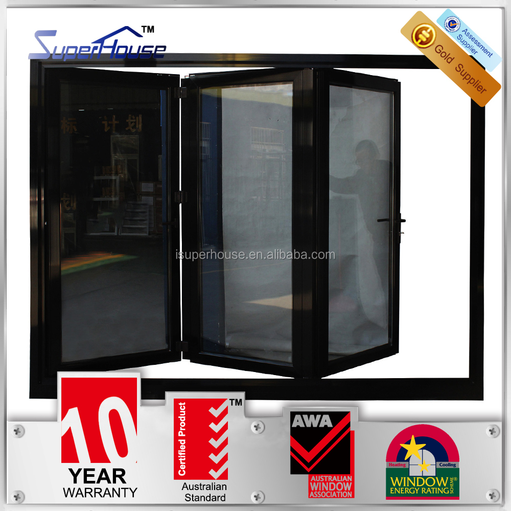 Australia AS2047 standard interior thermal break double glass insulated folding door