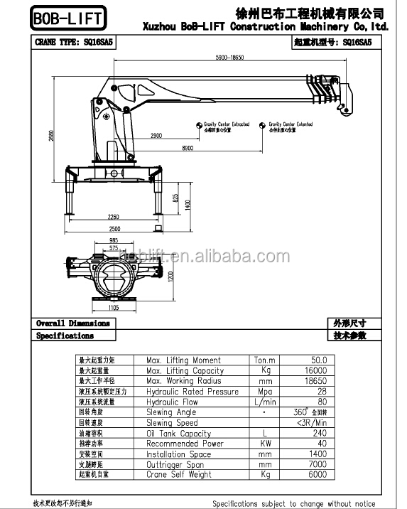 16 ton telescopic boom all terrain cranes for sale sq16sa5
