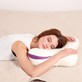 Breathable sleeping special contour moulded foam pillow with tencle pillowcase