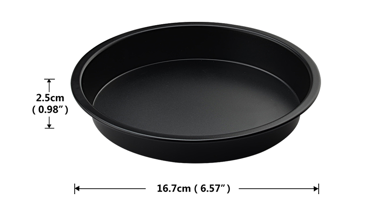 Note Please note that all the sizes and colors may have a little deviation by manual measurement and display screen.  sc 1 st  AliExpress.com & Upspirit 6 Inch Nonstick Coating Carbon Steel Pizza Pan Round Oven ...