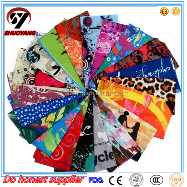 Outdoor sport head and neck wearmer wear multifunctional tubular polyester bandana