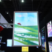 Aluminum double sided LED picture frame