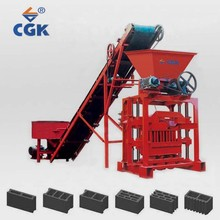 Multifunctional concrete brick raw material reinforced steel pole block machine construction 4-35 for wholesales