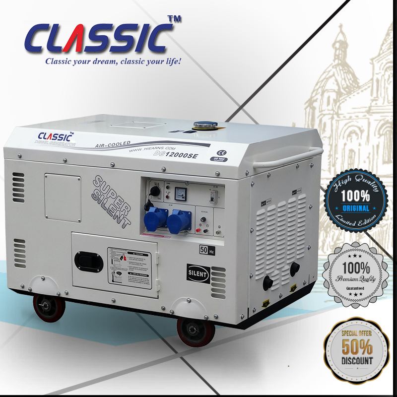 CLASSIC CHINA 10KW 10Kva Portable Silent Type Small Water Cooled Diesel Generator Price With AVR and ATS