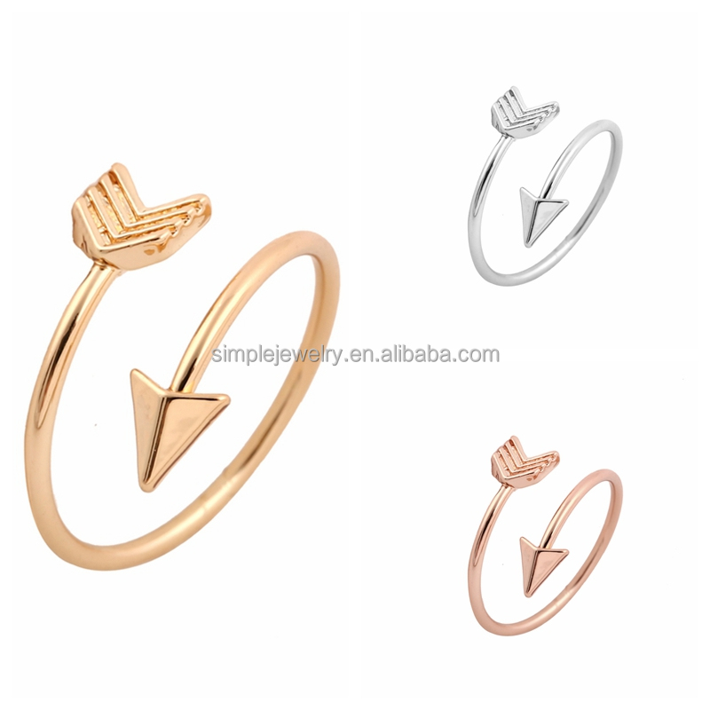 Hot Selling Fashoin <strong>Rings</strong> for Women Adjustable Wrapped Arrow <strong>rings</strong> Party Gifts