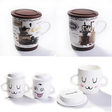 wholesale ceramic mugs for happy christmas gift smile face mug