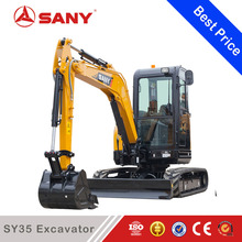 SANY SY35C 3.5t Lower Fuel Consumption Mini Excavator Used in Forest Farm & Indoors Digging Machine