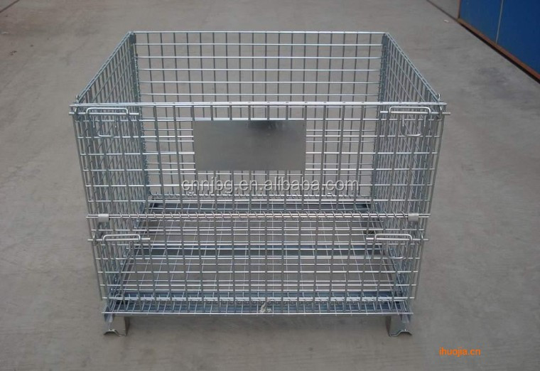 High quality steel wire mesh container pallet folded container