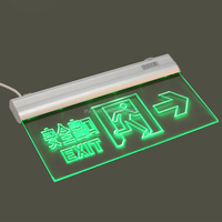 LED recharging Emergency Exit Sign Light with Plastic Body QH-F2250 Exit Sign Light