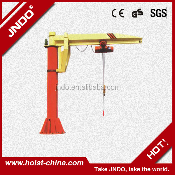 boat hoist swing arm lift crane