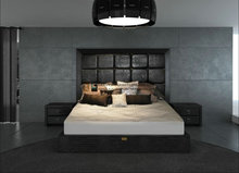 Kbe-033 Luxury Crocodile laser etched Leather Bed