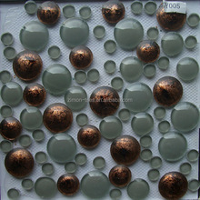 Wholesaler Premium Pearl Oval Shape Iridescent Glass Mosaic For Swimming Pool Tile