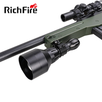 hot sale manufacture long range gun mounted tactical led hunting flashlight